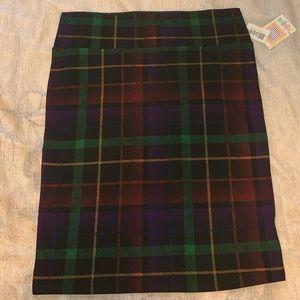 Lularoe plaid skirt size 3X.